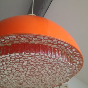 lustre suspension seventies orange vintage