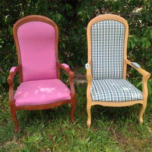 Une nouvelle vie pour ces deux fauteuils Voltaire
