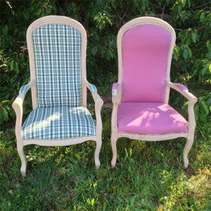 fauteuil Voltaire après décapage