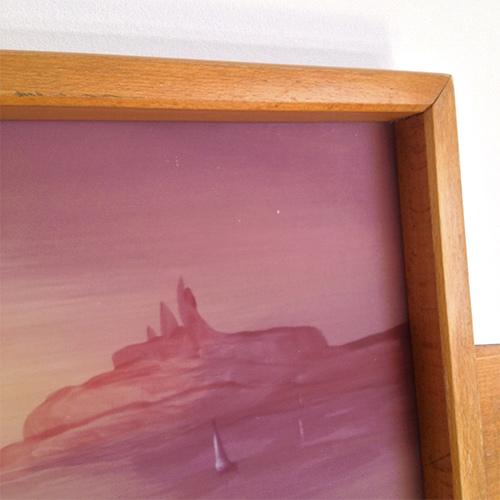 Plateau en bois d cor peinture marine brocanteandco for Decoration marine bois