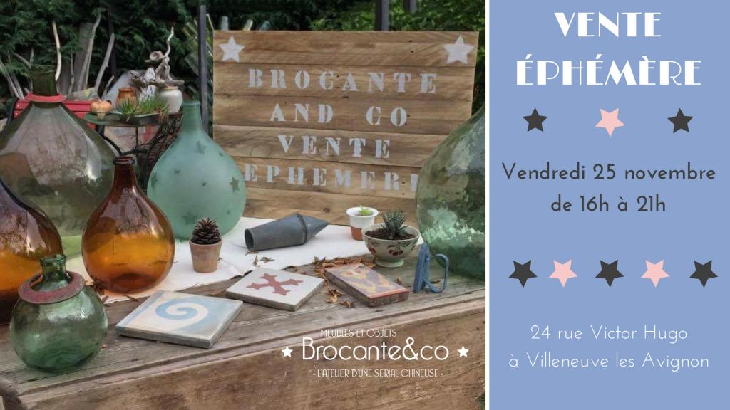 vente ephémère Brocante and co