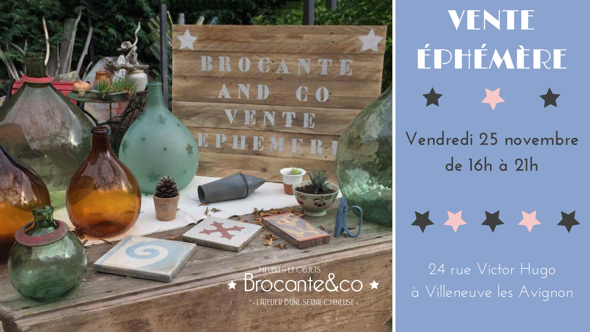 vente ephémère Brocante and co