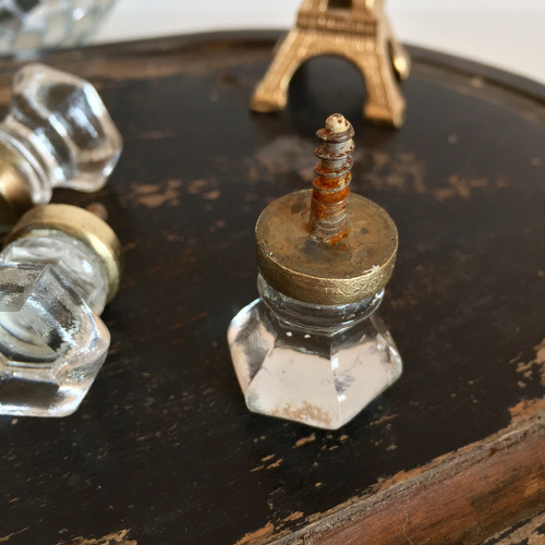 Anciens boutons verre