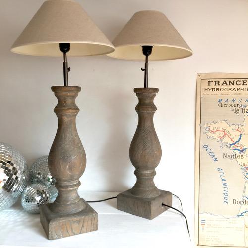 Lampes balustres