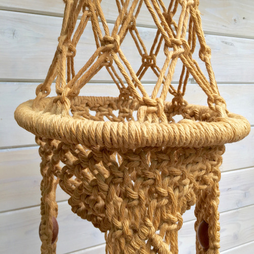 Suspension macramé jute