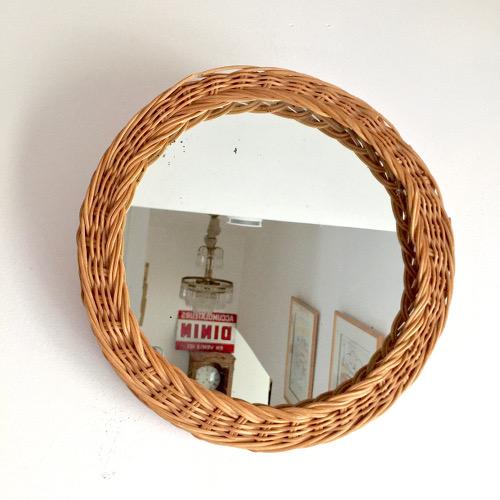 Miroir en osier tress brocanteandco boutique en ligne for Miroir en osier