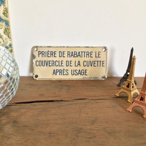 plaque maill e brocanteandco boutique en ligne de. Black Bedroom Furniture Sets. Home Design Ideas