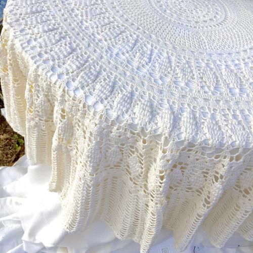 Sur nappe crochet