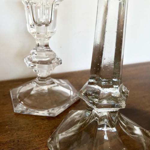 Bougeoirs en verre