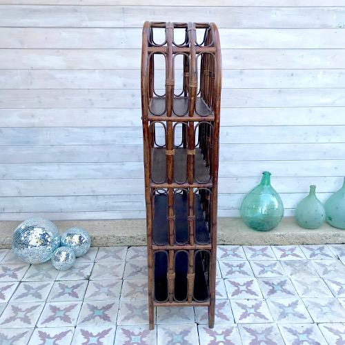 etag re biblioth que en rotin brocanteandco boutique en ligne de brocante. Black Bedroom Furniture Sets. Home Design Ideas