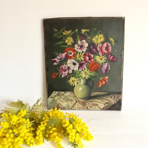Bouquet sur toile