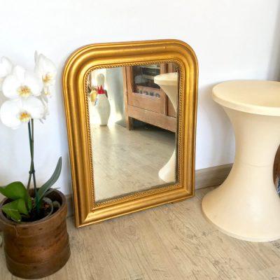 Miroir Louis Philippe doré