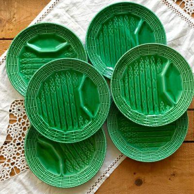 Assiettes asperges Sarreguemines