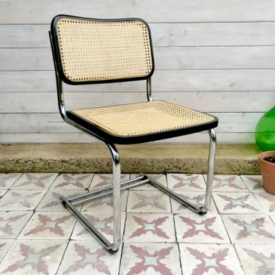 Chaise B32 chrome et cannage