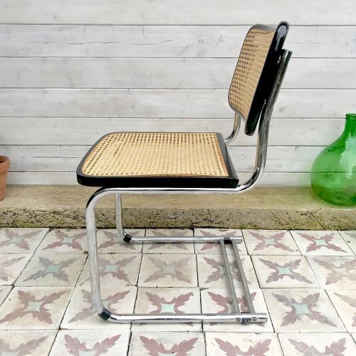 chaise chrome et cannage brocanteandco boutique en. Black Bedroom Furniture Sets. Home Design Ideas