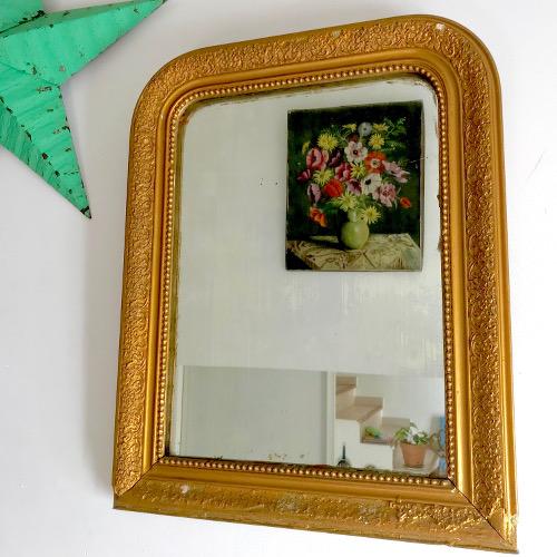 miroir au mercure louis philippe dor brocanteandco boutique en ligne de brocante. Black Bedroom Furniture Sets. Home Design Ideas