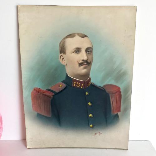 Photo colorisée soldat