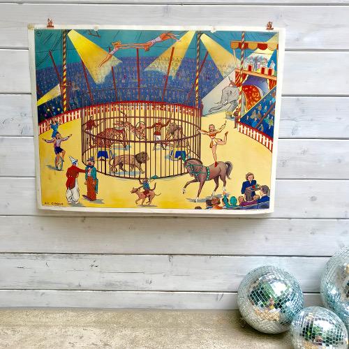 Affiche Rossignol Le cirque - Après la pluie