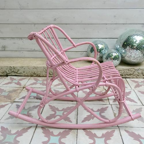 Rocking chair enfant rotin