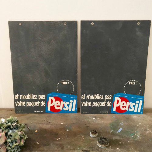 Ardoise publicitaire Persil