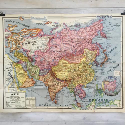 Affiche scolaire Asie Politique