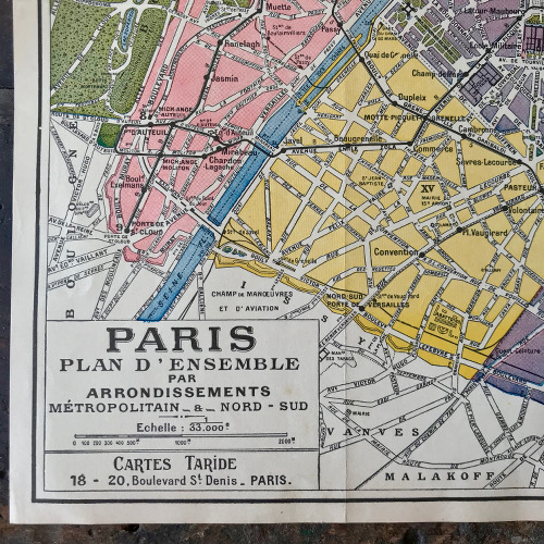 Plan de Paris Taride