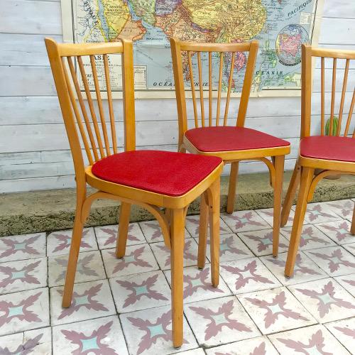 Chaises de bistrot baumann brocanteandco boutique en - Chaise bistrot ancienne baumann ...