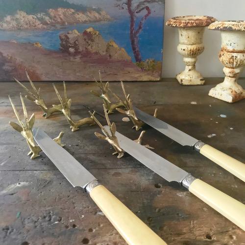 Porte couteaux en laiton
