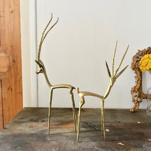 Gazelles en laiton