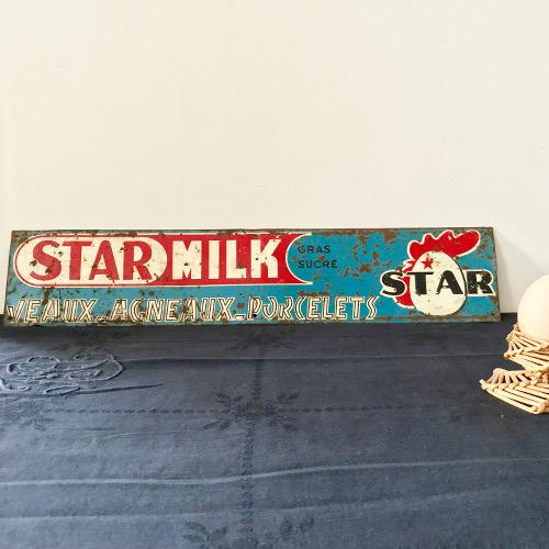 Plaque métal STARMILK