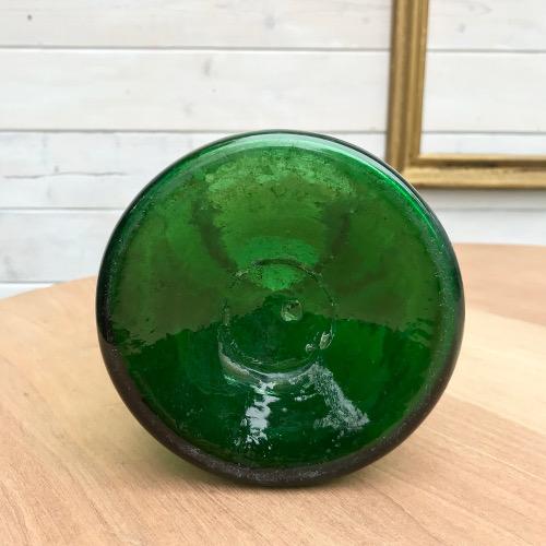 Pot à pharmacie en verre vert