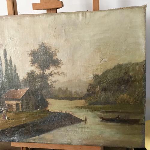 Tableau bord de rivière