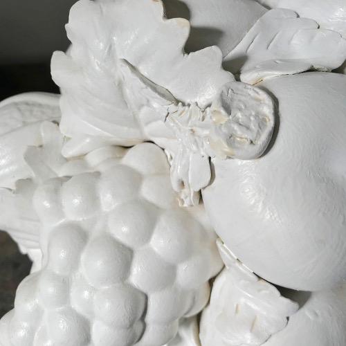 Sculpture panier de fruits