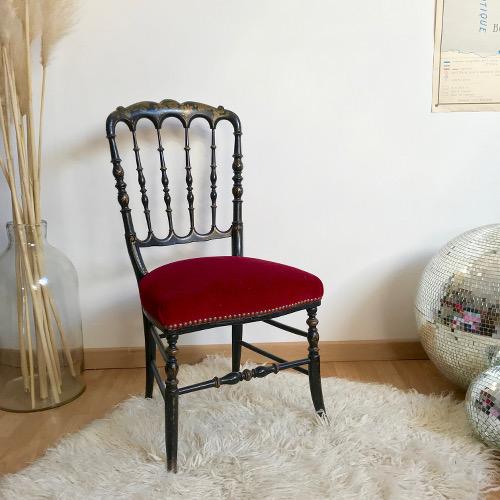 chaise napol on iii brocanteandco boutique en ligne de brocante. Black Bedroom Furniture Sets. Home Design Ideas