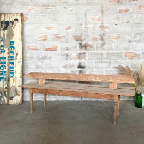 Banc dos à dos en bois