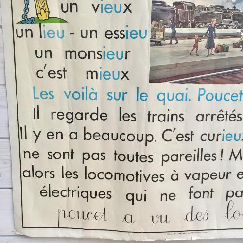 Affiche scolaire Rossignol méthode de lecture