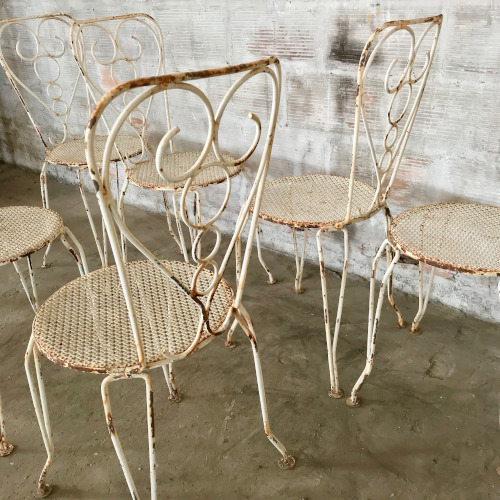 Chaises de jardin en fer forgé