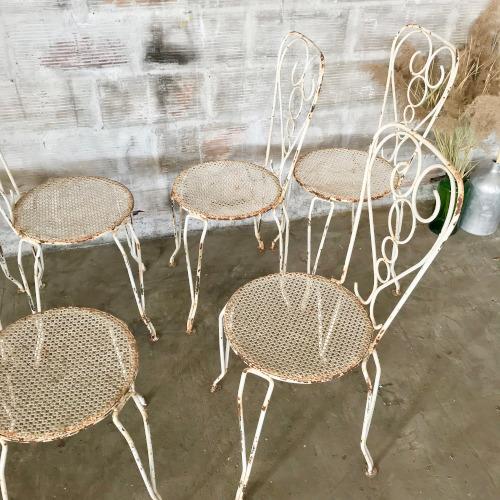 chaises de jardin en fer forg brocanteandco boutique en ligne de brocante. Black Bedroom Furniture Sets. Home Design Ideas