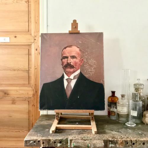 Peinture portrait d'homme