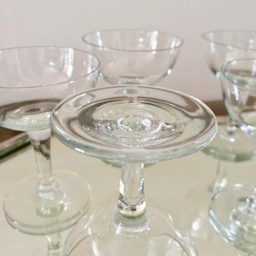 Coupes à champagne en cristal