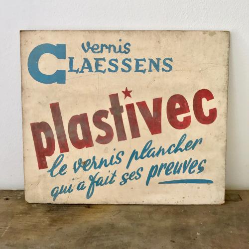 Publicité peinte Plastivec