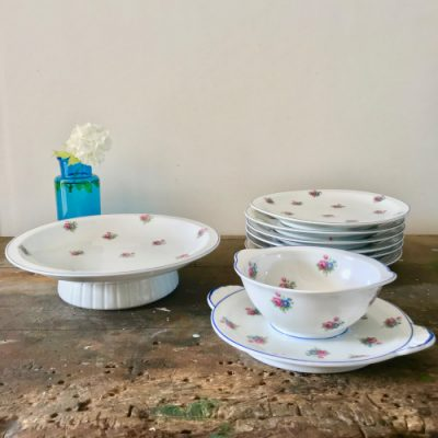 Service à dessert porcelaine de Limoges
