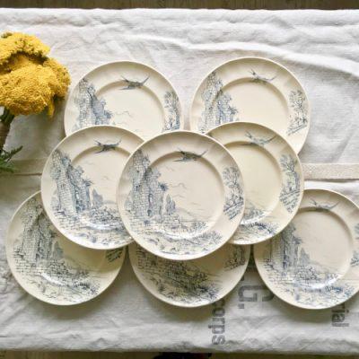 Assiettes Terre de fer Longchamp