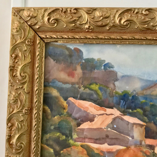 Aquarelle paysage de Provence