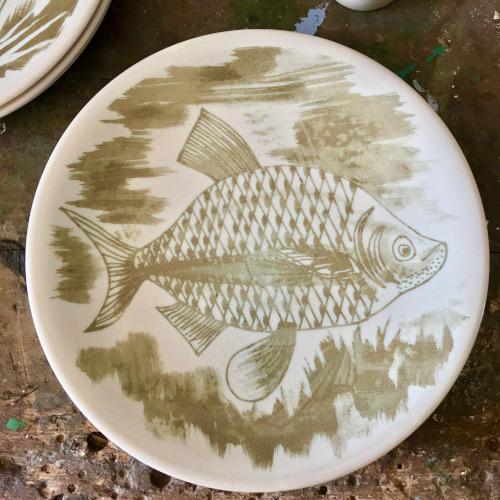 Assiettes à poisson Longchamp