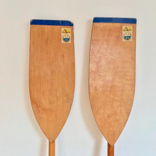 Paire de rames en bois
