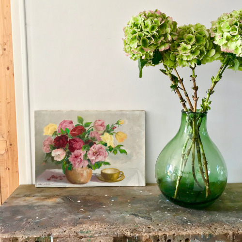 Huile sur toile Bouquet de roses