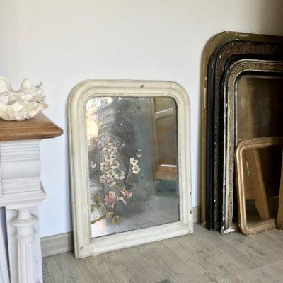 Miroir Louis Philippe blanchi
