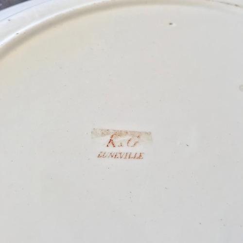 Plat rond K & G Lunéville