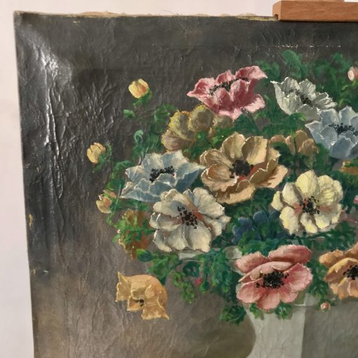 Huile sur toile bouquet de fleurs